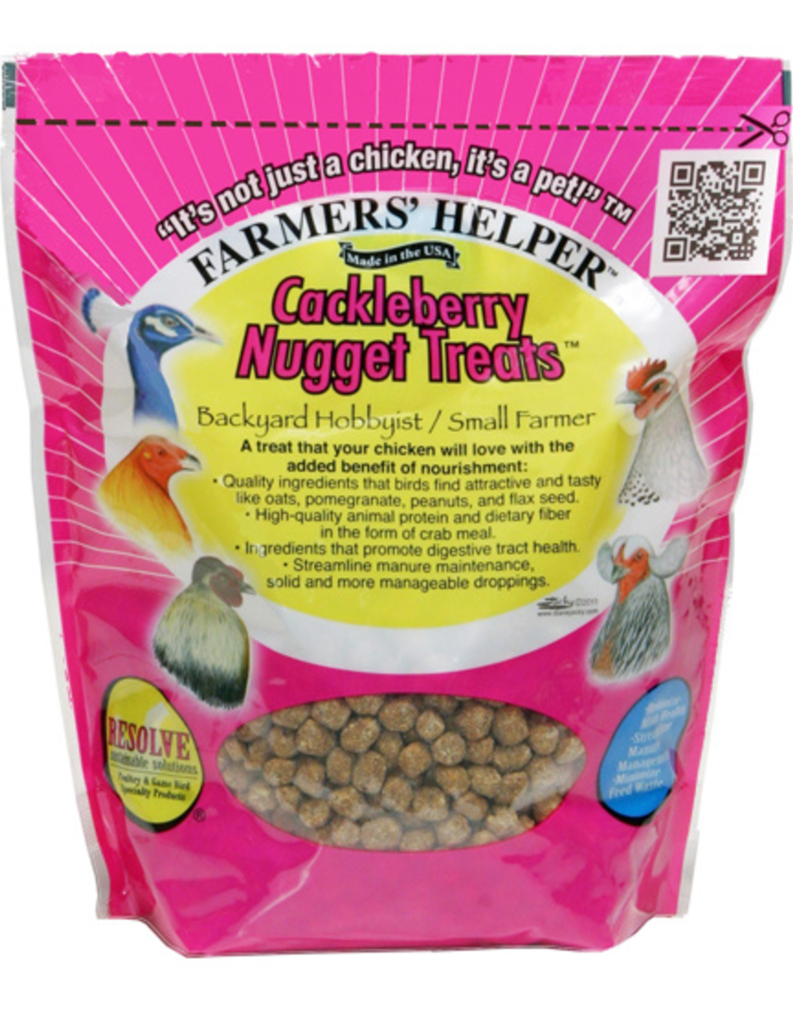 C AND S PRODUCTS CO INC P FARMERS' HELPER CACKLEBERRY NUGGET TREATS