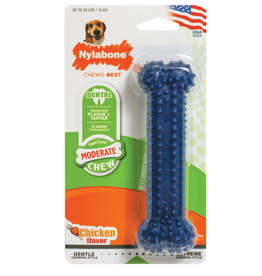 NYLABONE CORP NYLABONE TEXTURED DENTAL CHEW BONE WOLF