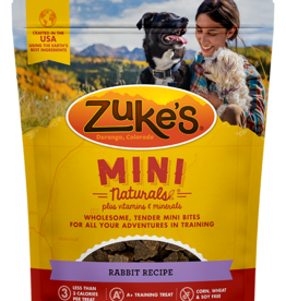 ZUKES MINI NATURALS WILD RABBIT TREATS 6OZ