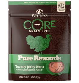 WELLPET LLC WELLNESS DOG TREATS PURE TURKEY JERKY 4OZ
