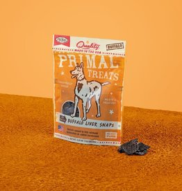 PRIMAL PET FOODS PRIMAL BUFFALO LIVER SNAP TREAT 4.25OZ(PVPD)
