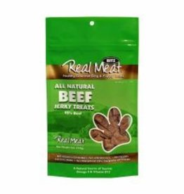 THE REAL MEAT CO REAL MEAT DOG JERKY TREAT BEEF 4OZ DISCONTINUED