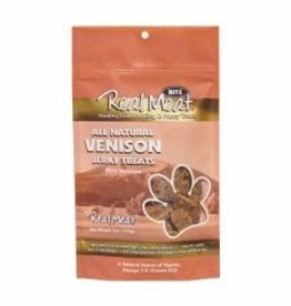 THE REAL MEAT CO REAL MEAT DOG JERKY TREAT VENISON 4OZ