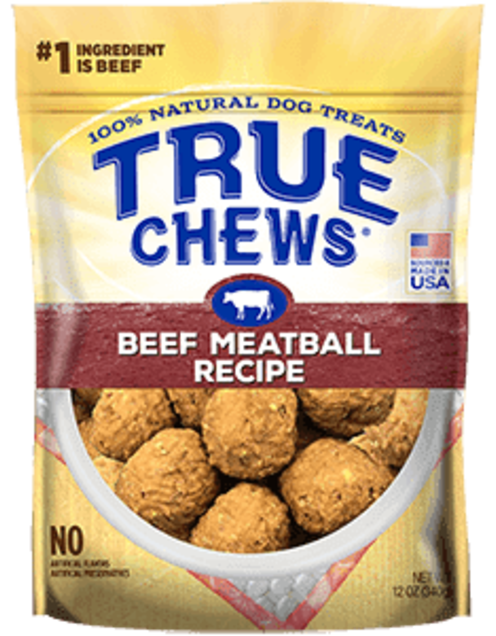 TYSON PET PRODUCTS INC TRUE CHEWS MEATBALL RECIPE BEEF 12OZ