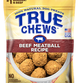 TYSON PET PRODUCTS INC TRUE CHEWS MEATBALL RECIPE BEEF 12OZ