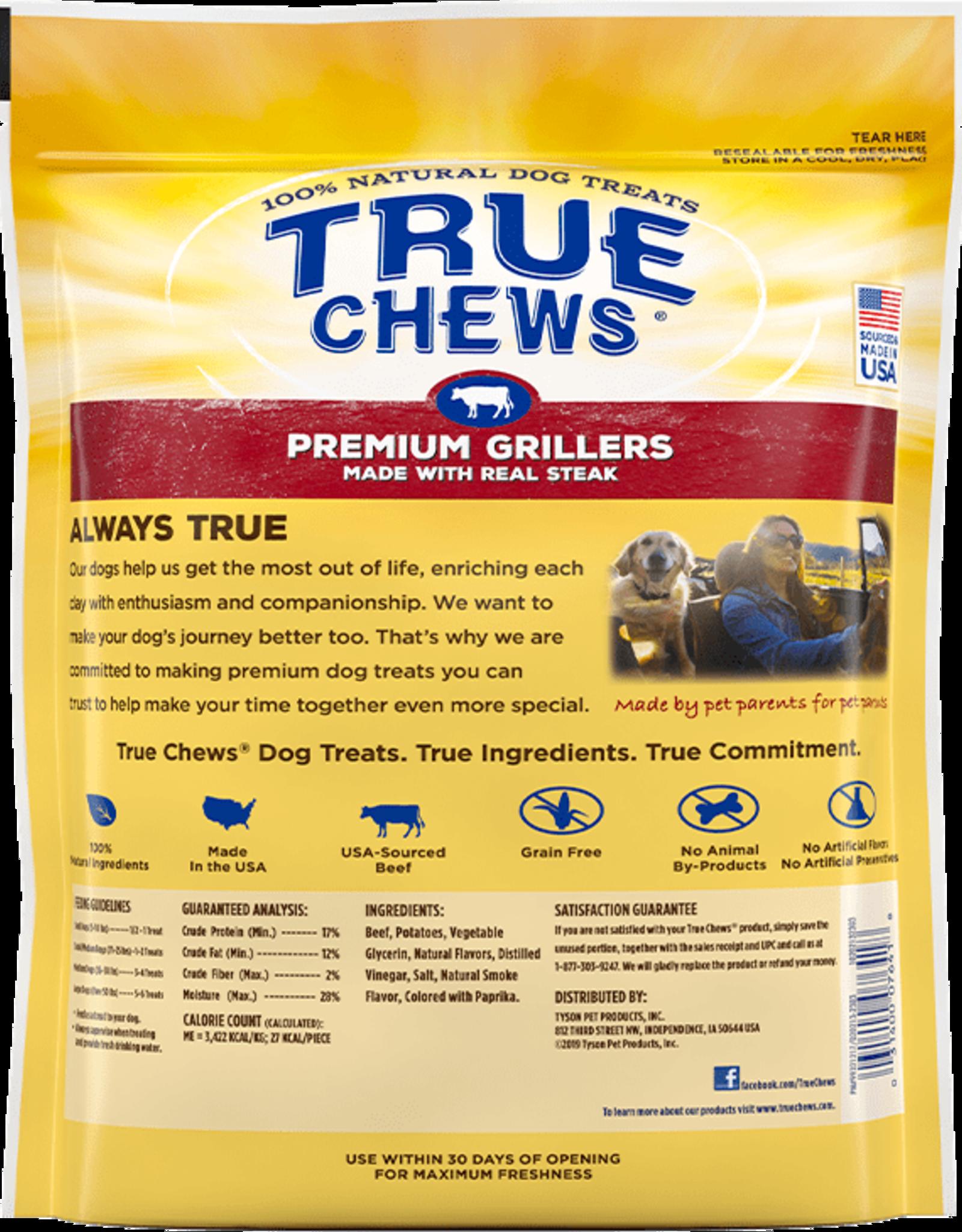 TYSON PET PRODUCTS INC TRUE CHEWS PREMIUM GRILLERS STEAK 10OZ