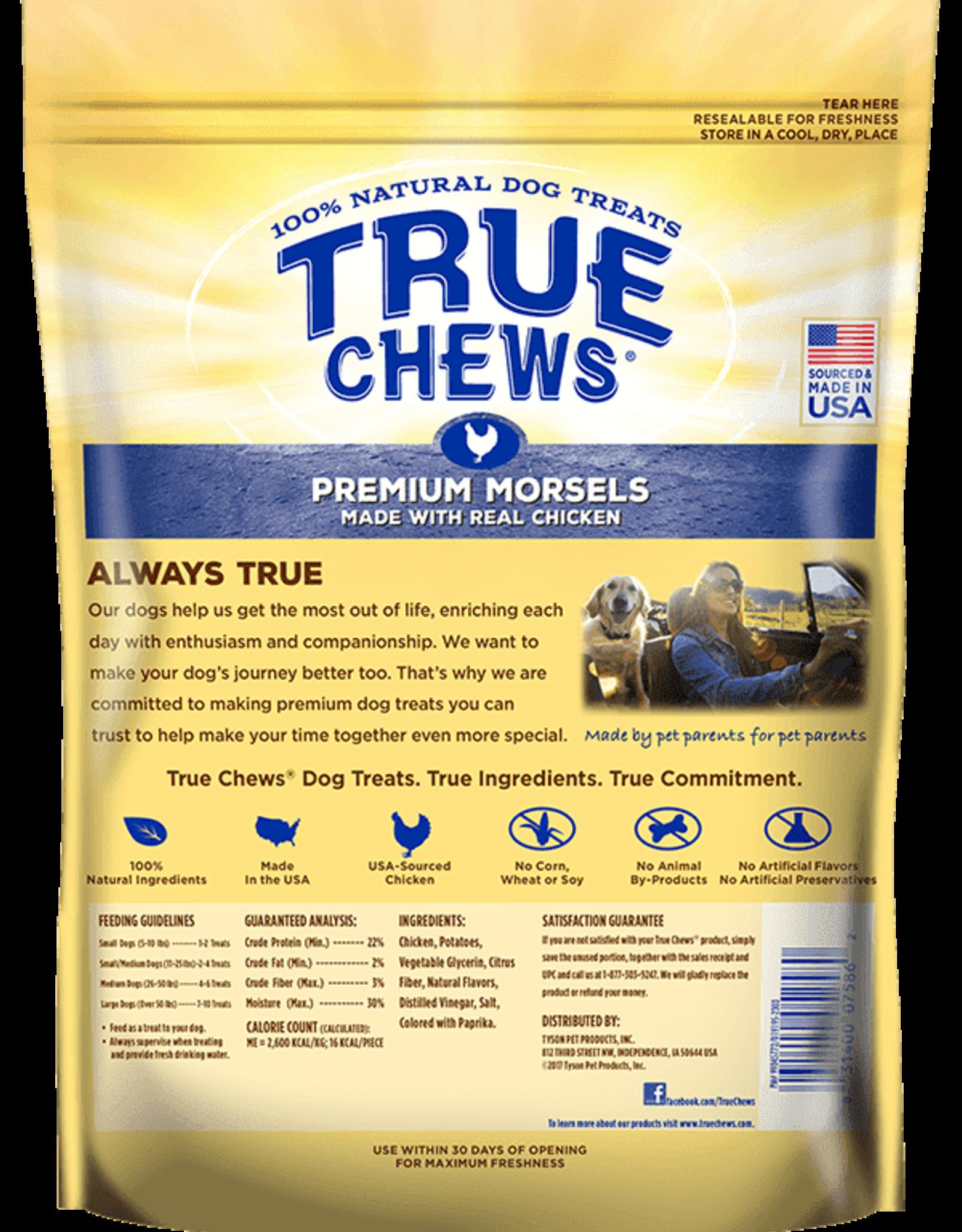 TYSON PET PRODUCTS INC TRUE CHEWS PREMIUM MORSELS CHICKEN 10OZ