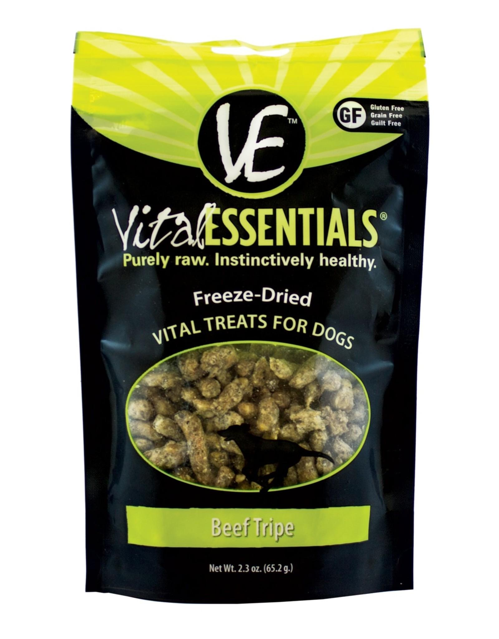 Carnivore Meat Company LLC FREEZE DRIED BEEF TRIPE DOG TREAT 2.3OZ VITAL ESSENTIALS