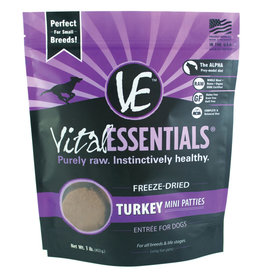 Carnivore Meat Company LLC VITAL ESSENTIALS FREEZE DRIED ENTREE TURKEY MINI PATTIES 1LB