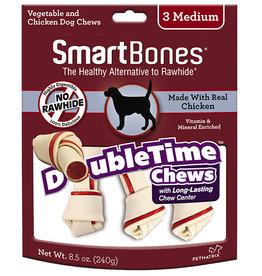 PETMATRIX, LLC SMARTBONES DOUBLETIME BONE CHICK MED 3PK