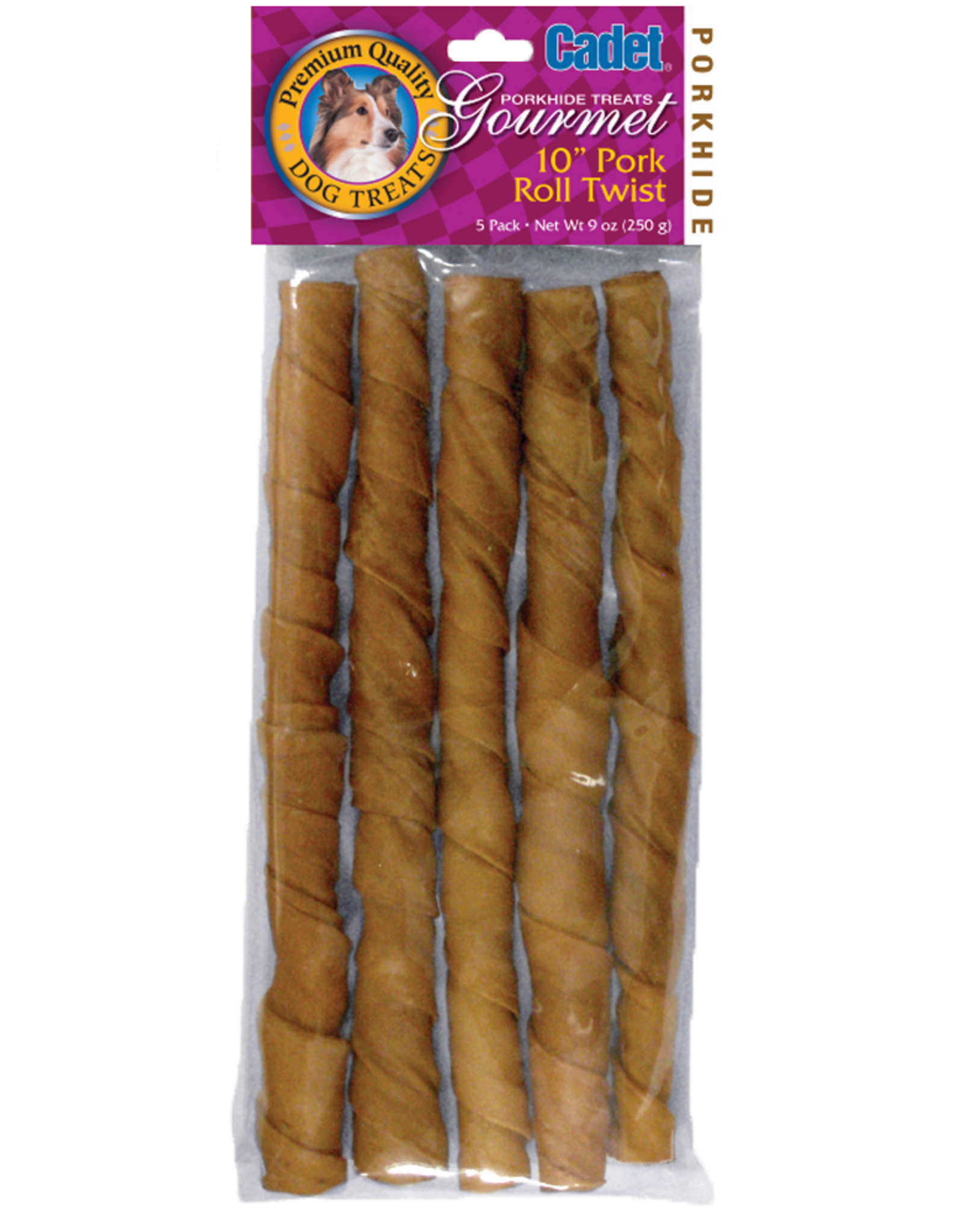 "IMS TRADING CORPORATION CADET PORK ROLL TWIST 10"" 5PK"