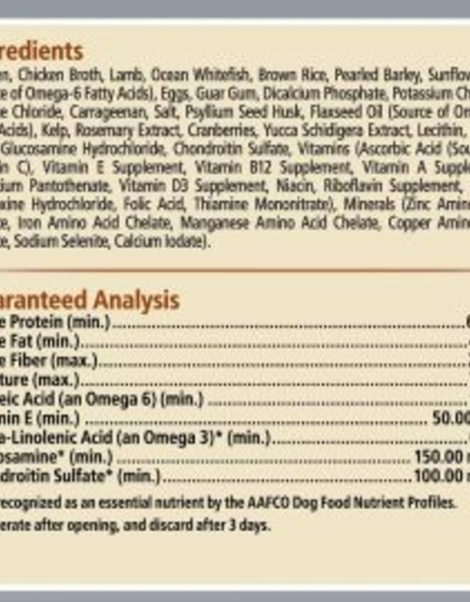 CANIDAE PET FOODS CANIDAE CAN ALL LIFE STAGES PLATINUM LESS ACTIVE 13.2OZ