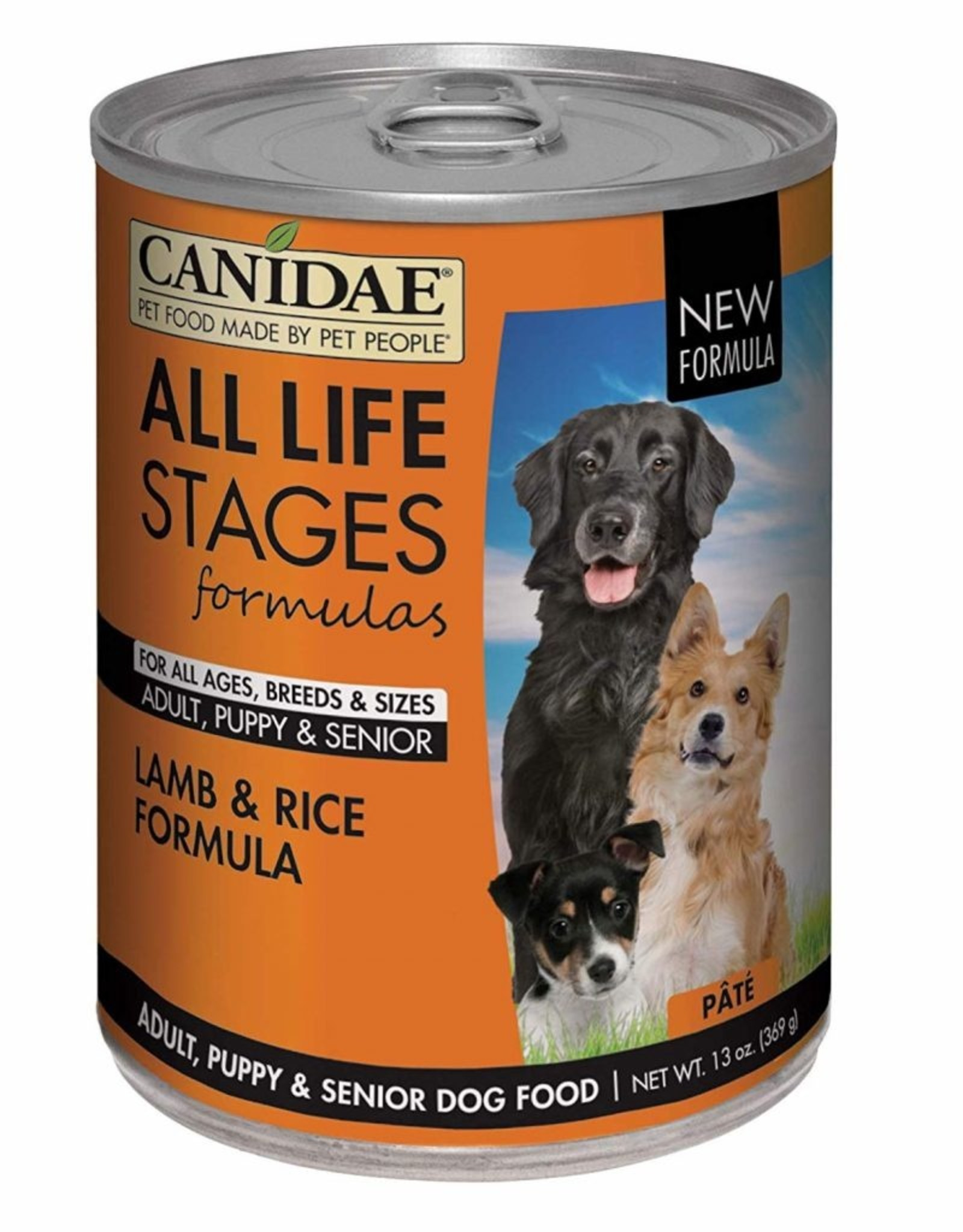 CANIDAE PET FOODS CANIDAE DOG CAN ALL LIFE STAGES LAMB & RICE 13.2OZ CASE OF 12