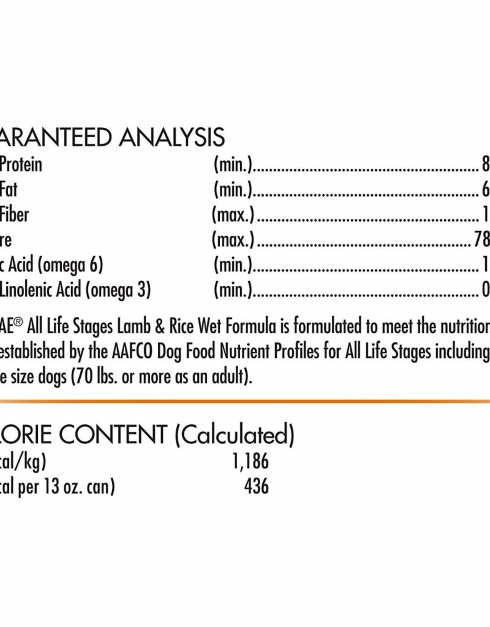 CANIDAE PET FOODS CANIDAE DOG CAN ALL LIFE STAGES LAMB & RICE 13.2OZ
