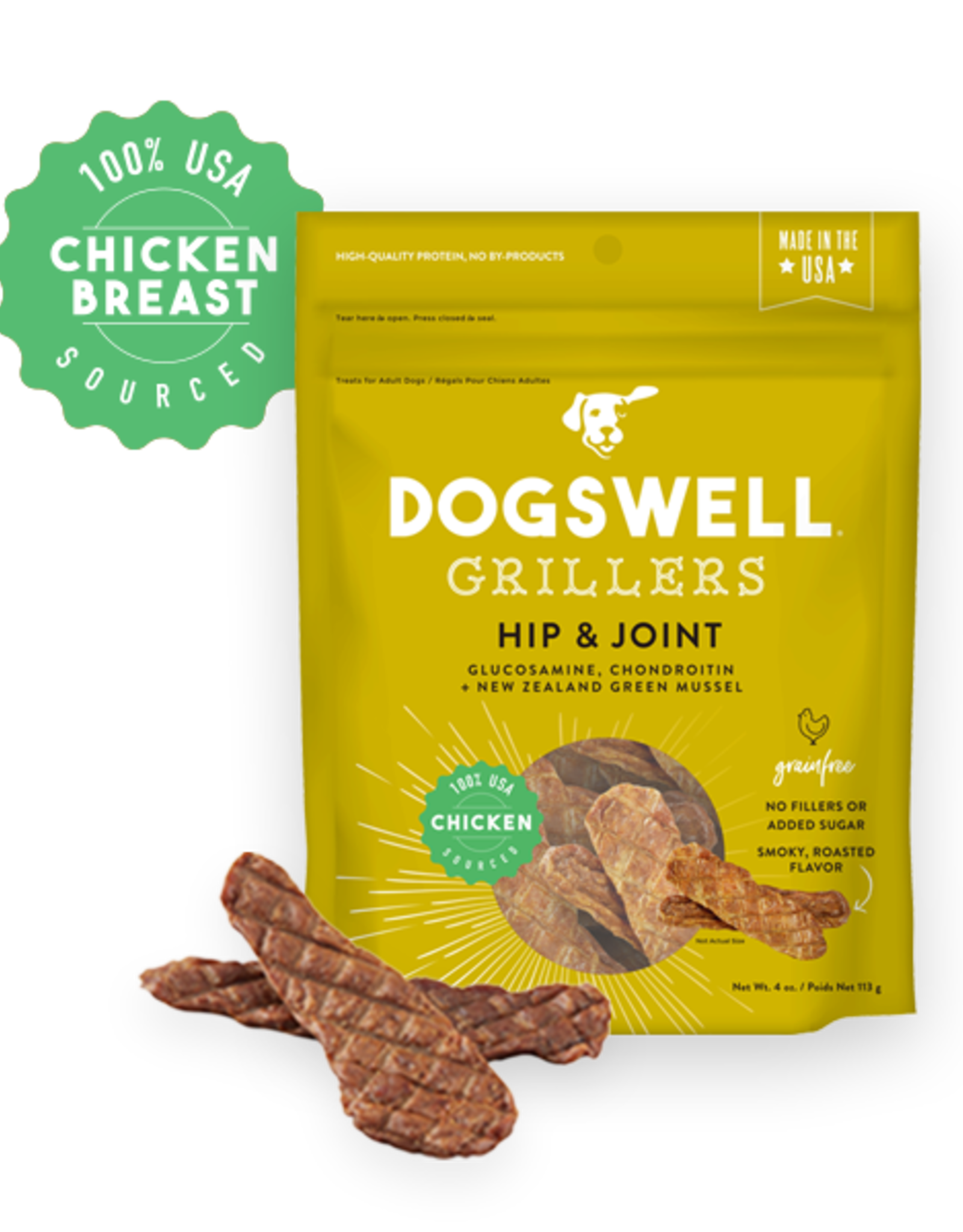 DOGSWELL, LLC DOGSWELL HIP JOINT GRILLERS CHICKEN 12OZ