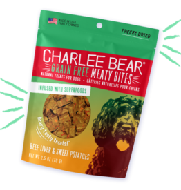 CHARLEE BEAR CHARLEE BEAR DOG MEATY BITES BEEF LIVER & SWEET POTATO 5OZ
