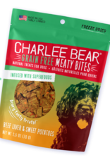 CHARLEE BEAR CHARLEE BEAR DOG MEATY BITES BEEF LIVER & SWEET POTATOES 2.5OZ
