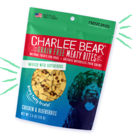CHARLEE BEAR CHARLEE BEAR DOG MEATY BITES CHICKEN & BLUEBERRIES 2.5OZ