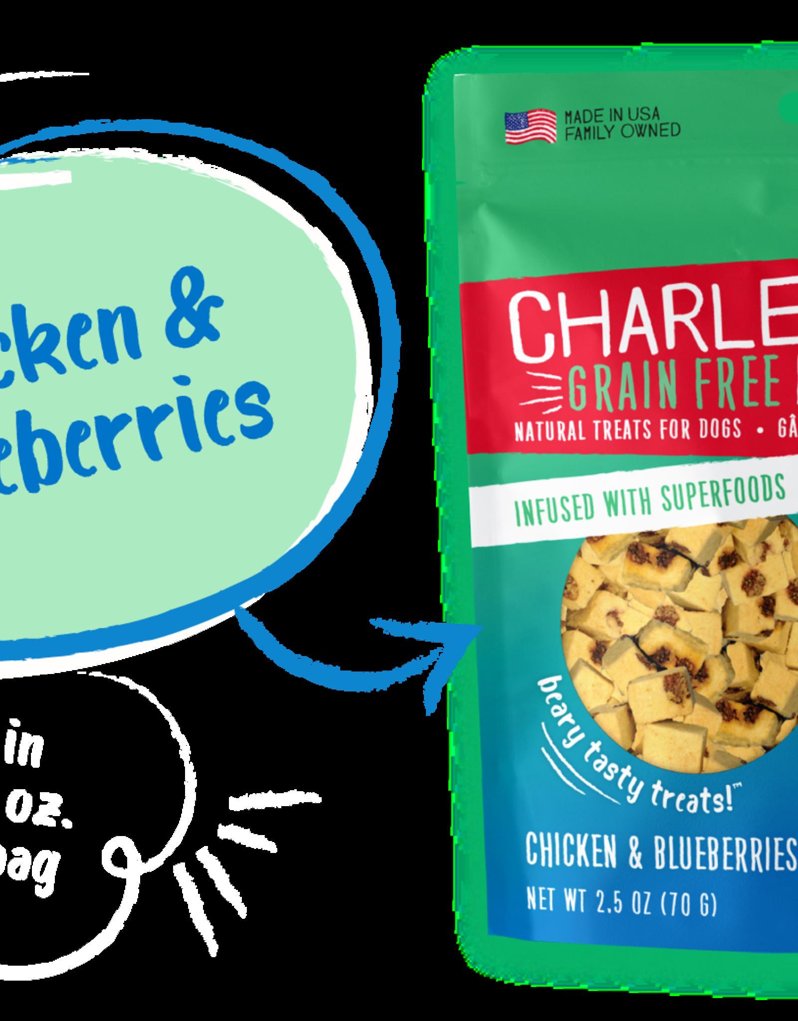 CHARLEE BEAR CHARLEE BEAR DOG MEATY BITES CHICKEN & BLUEBERRIES 2.5OZ