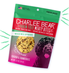 CHARLEE BEAR CHARLEE BEAR DOG MEATY BITES CHICKEN & CRANBERRIES 2.5OZ