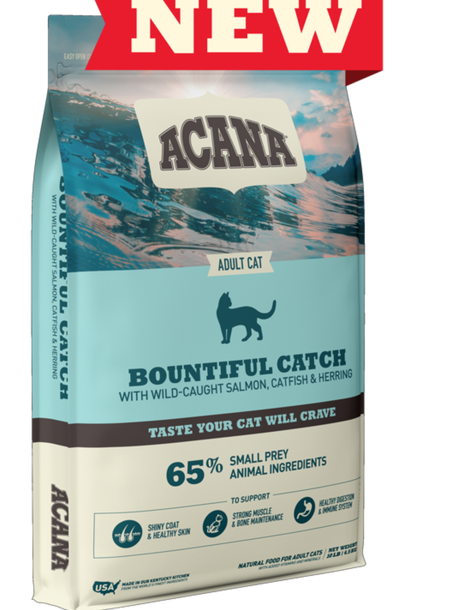 CHAMPION PET FOOD ACANA CAT BOUNTIFUL CATCH 4LBS