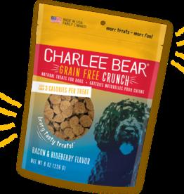 CHARLEE BEAR CHARLEE BEAR CRUNCH GRAIN FREE TREAT BACON & BLUEBERRY 8OZ