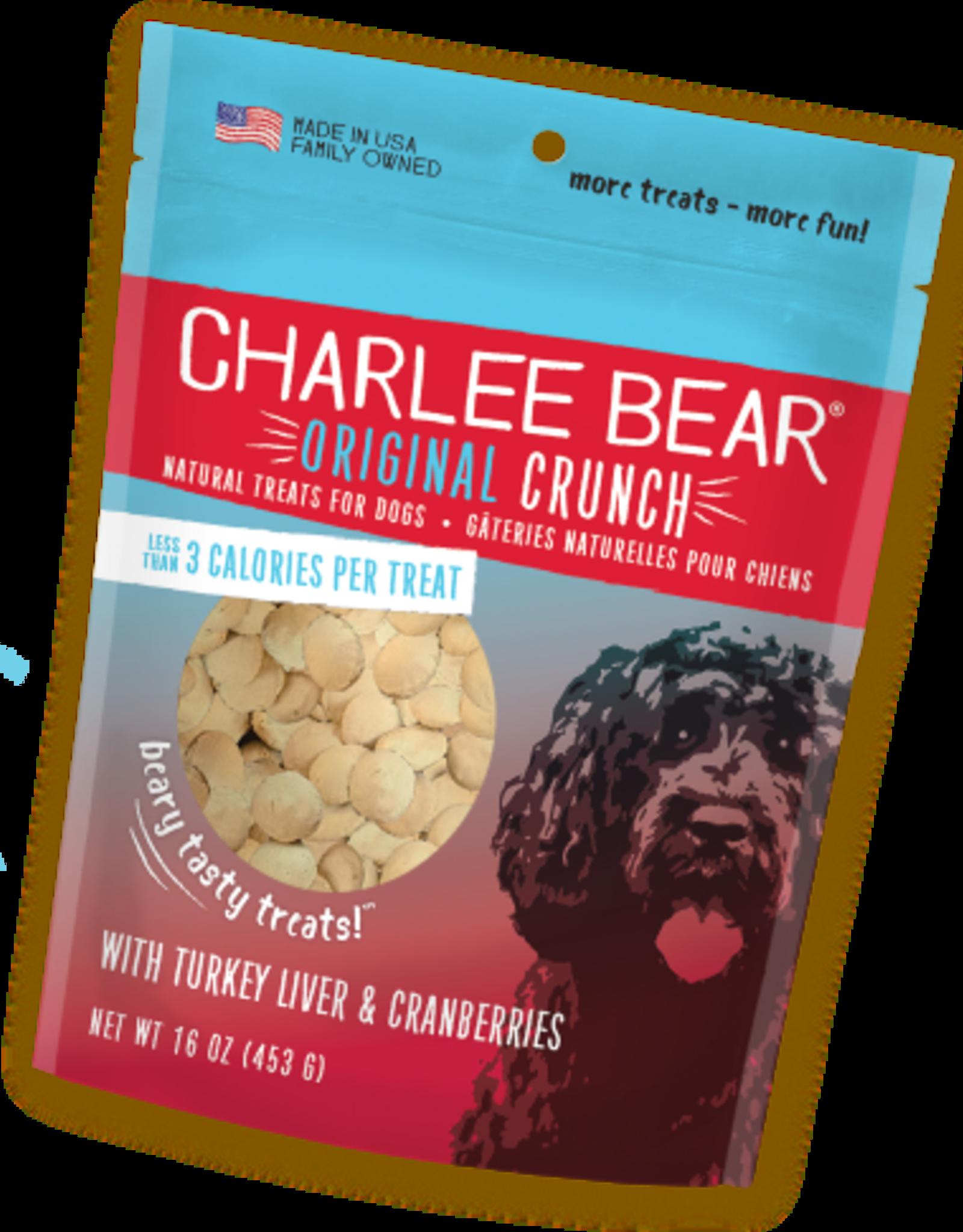CHARLEE BEAR CHARLEE BEAR DOG TREATS TURKEY LIVER W/CRANBERRY 16OZ