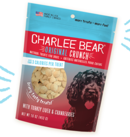 CHARLEE BEAR CHARLEE BEAR DOG TREATS TURKEY LIVER W/CRANBERRY 16OZ