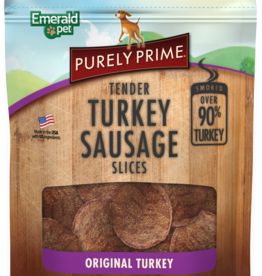 EMERALD PET PRODUCTS INC PURELY PRIME TENDER TURKEY SAUSAGE 3OZ