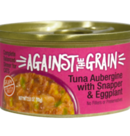 EVANGER'S EVANGERS CAT AGAINST GRAIN TUNA AUBERGINE W/SNAPPER & EGGPLANT 2.8OZ