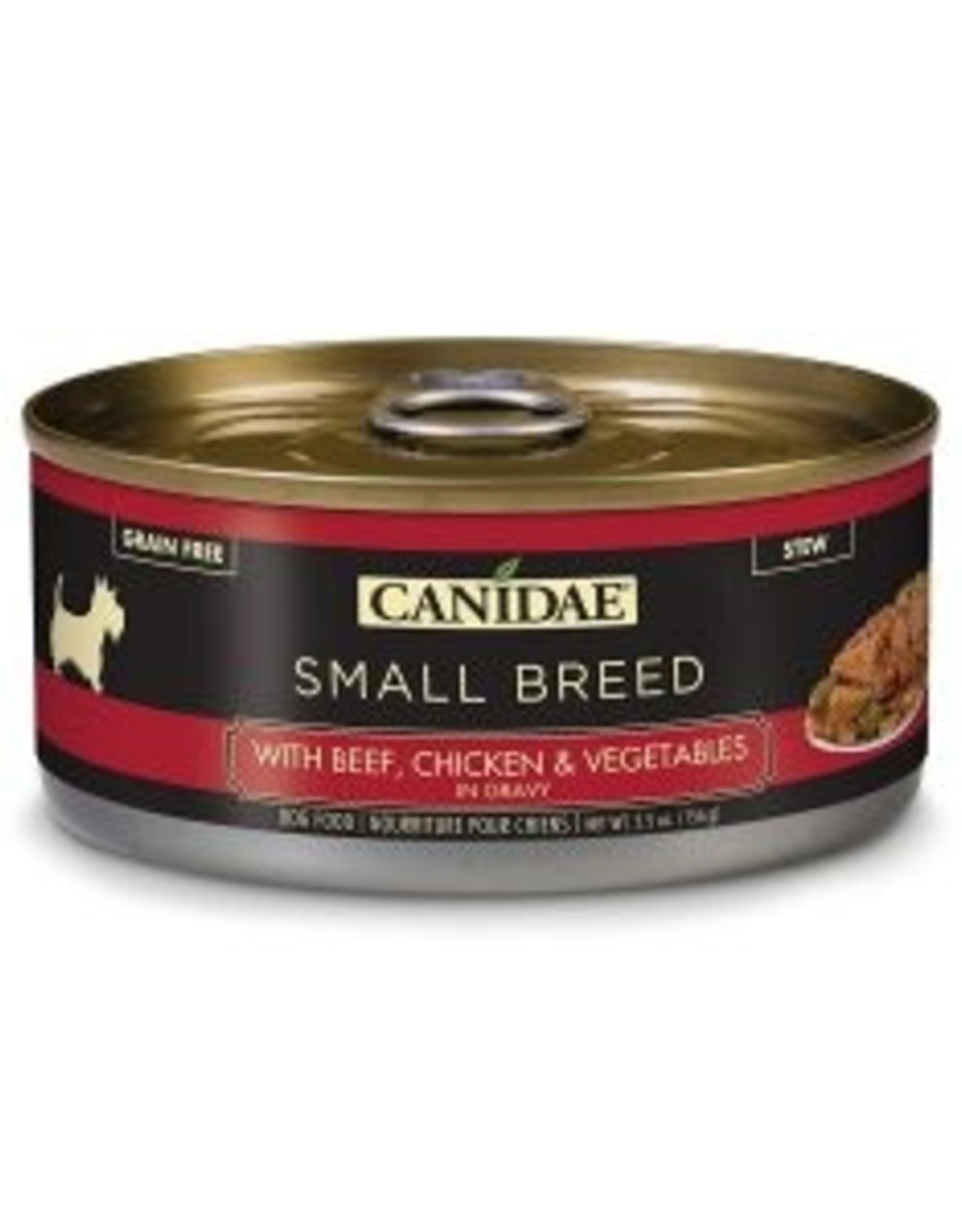 CANIDAE PET FOODS CANIDAE CAN DOG SMALL BREED BEEF, CHICKEN & VEGETABLES IN GRAVY 5.5OZ CASE OF 24