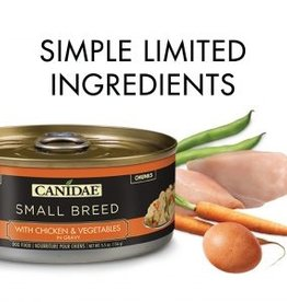 CANIDAE PET FOODS CANIDAE CAN DOG SMALL BREED CHICKEN, VEGETABLES IN GRAVY 5.5OZ