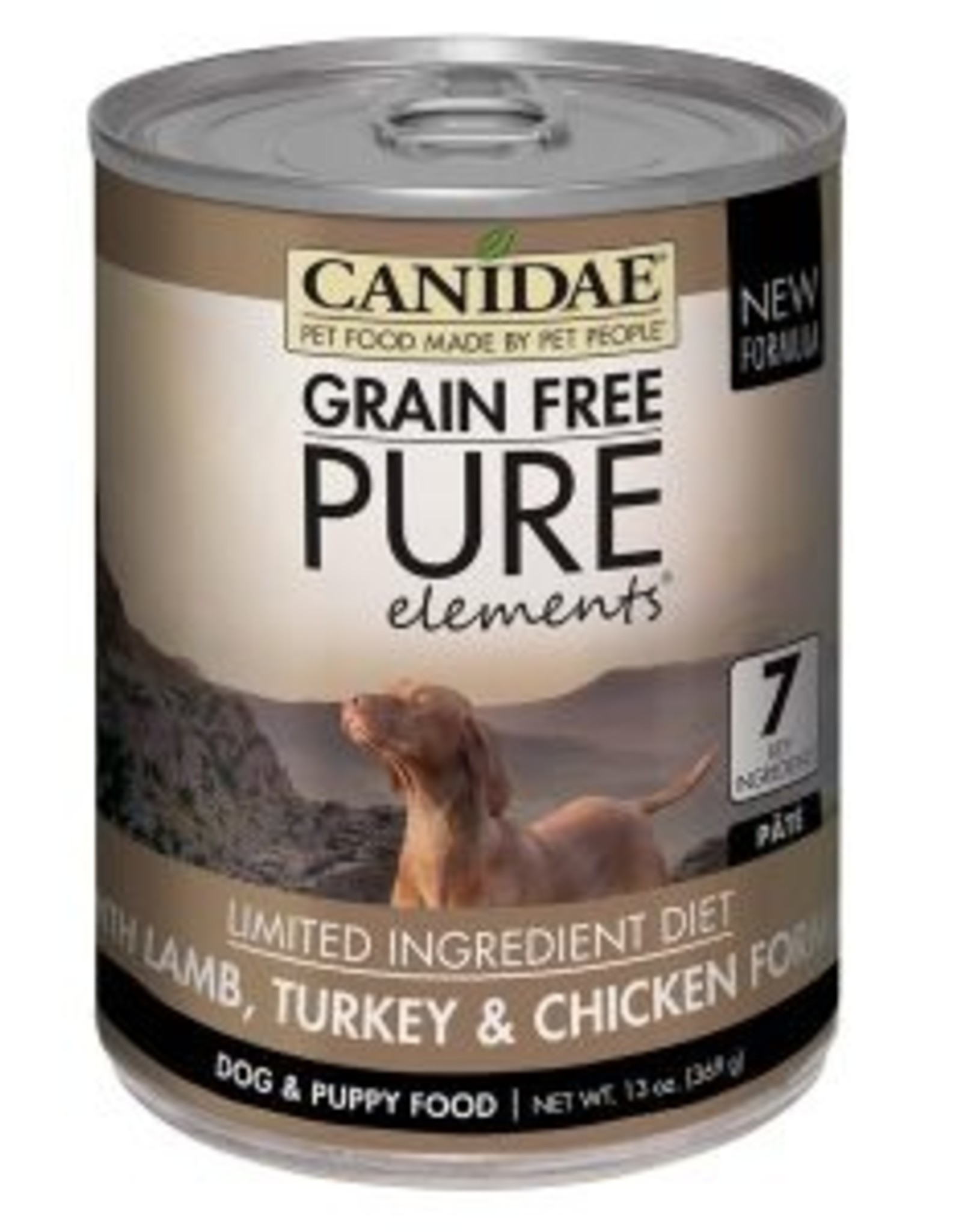 CANIDAE PET FOODS CANIDAE DOG CAN PURE ELEMENTS LAMB TURKEY CHICKEN 13 OZ CASE OF 12