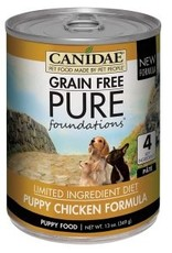 CANIDAE PET FOODS CANIDAE PUPPY CAN PURE FOUNDATIONS CHICKEN 13OZ CASE OF 12