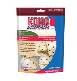 KONG COMPANY KONG DIGESTIBLES BONES 2PK LARGE PD