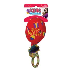KONG COMPANY KONG OCCASIONS BIRTHDAY BALLOON DOG TOY RED LARGE