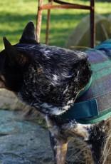 Huggle Hounds HUGGLEHOUNDS DOG JACKET BLACK PLAID XSMALL