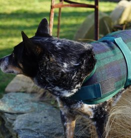 Huggle Hounds HUGGLEHOUNDS DOG JACKET BLACK PLAID XSMALL