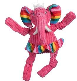 Huggle Hounds HUGGLEHOUNDS RAINBOW ELEPHANT KNOTTIE WEE