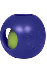 "JOLLY PETS DOG TOY JOLLY TEASER BALL 4.5"" BLUE SMALL"