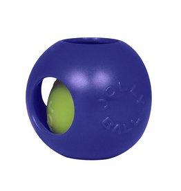 "JOLLY PETS DOG TOY JOLLY TEASER BALL 4.5"" BLUE SMALL"
