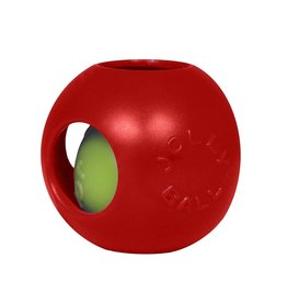 JOLLY PETS JOLLY BALL DOG TEASER 6IN RED MEDIUM