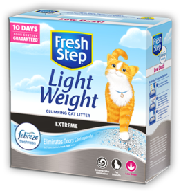 CLOROX PETCARE PRODUCTS FRESH STEP LIGHT WEIGHT EXTREME CAT LITTER 15.4#