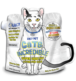 LUCY PET PRODUCTS LUCY PET INCREDIBLE UNSCENTED KLUMPING CAT LITTER 14#