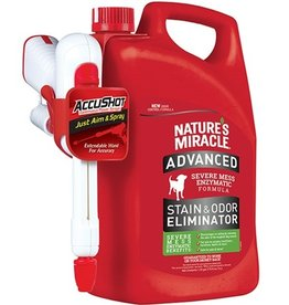 NATURE'S MIRACLE NATURES MIRACLE ADVANCED ACCUSHOT STAIN & ODOR 170OZ