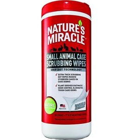 UNITED PET GROUP NATURES MIRACLE SMALL ANMAL CAGE SCRUB WIPE 30CT