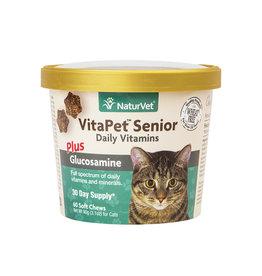 NATURVET NATURVET CAT VITA PET SENIOR SOFT CHEW 60CT