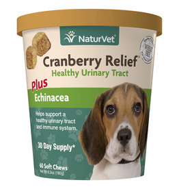 NATURVET NATURVET CRANBERRY RELIEF PLUS ECHINACEA  SOFT CHEW 60CT