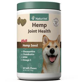 NATURVET NATURVET DOG JOINT HEALTH CHEW HEMP 120CT