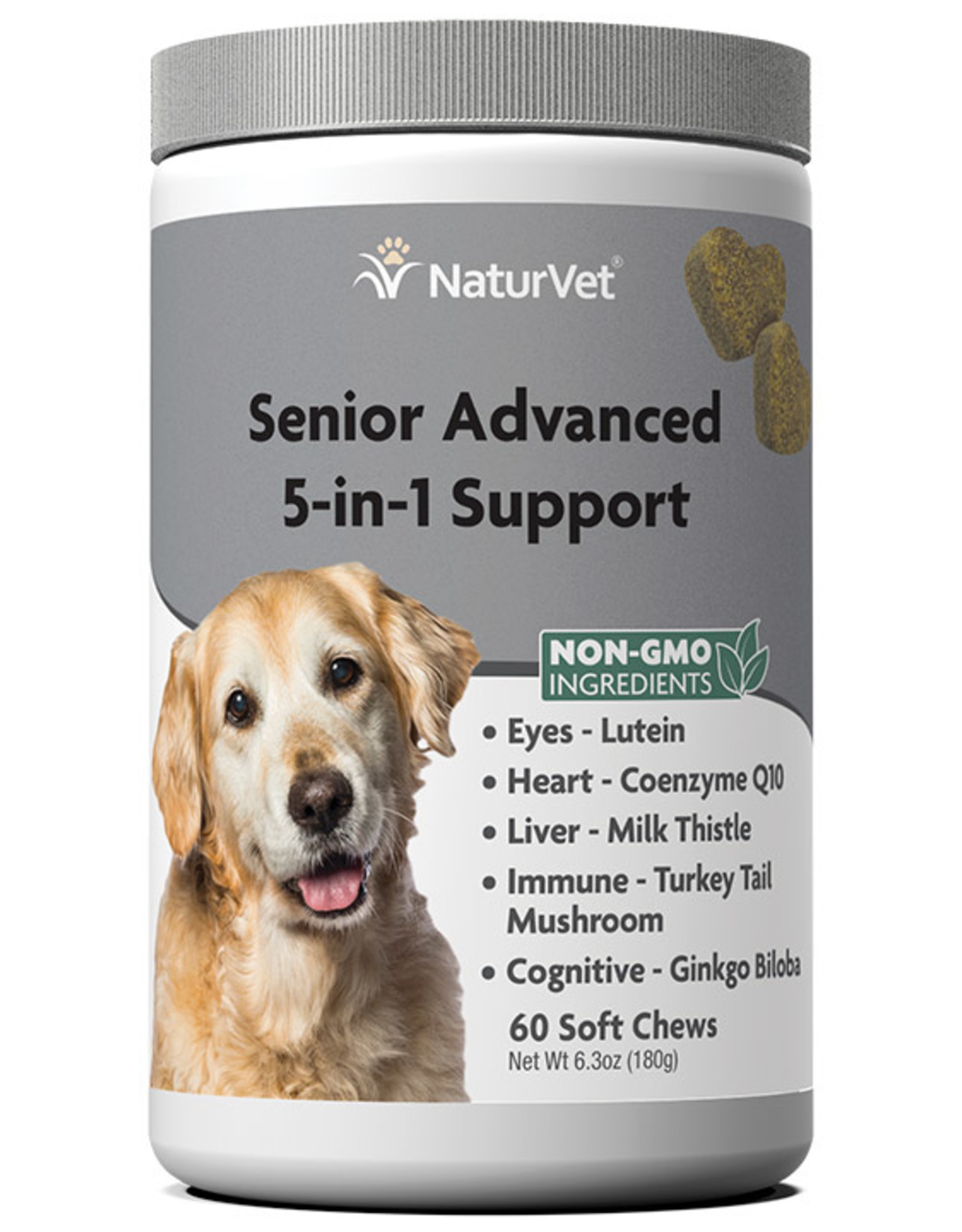 NATURVET NATURVET DOG SOFT CHEWS SENIOR 5-IN-1 SUPPORT 120CT